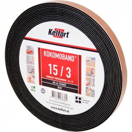 Compriband KOMO zwart 10x15mm 10M1
