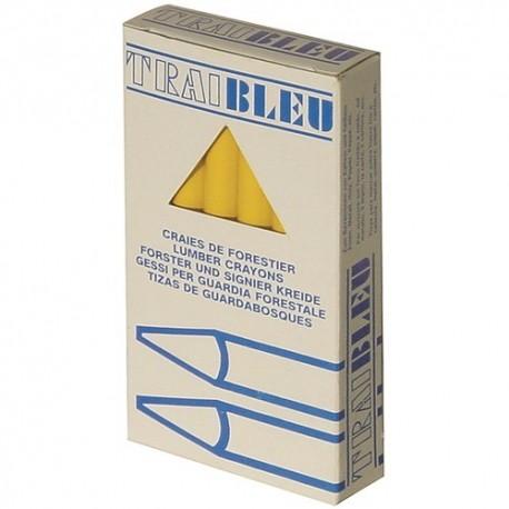 Merkkrijt 120mm zeskant blauw doos/12st