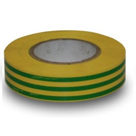 Isolatietape geel/groen 15mmx10m1