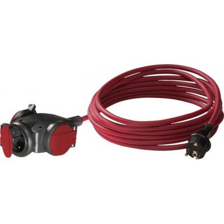 Volrubber hangcontactblok +10M kabel