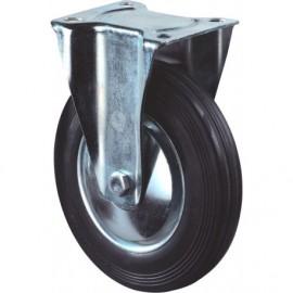 Bokwiel zwart+plaat 80mm