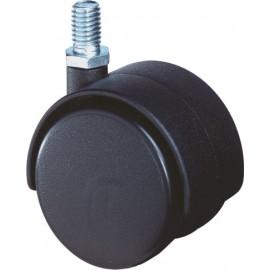 Meubelwiel zwart bev.stift 50mm