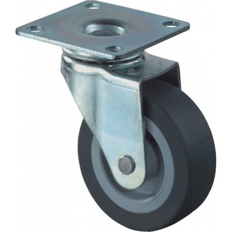 Zwenkwiel rubber 30mm